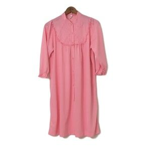 Vintage 50s 60s PRETTY IN PINK Floral Nightgown